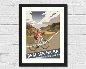 Scottish Cycling Retro Style Art Print