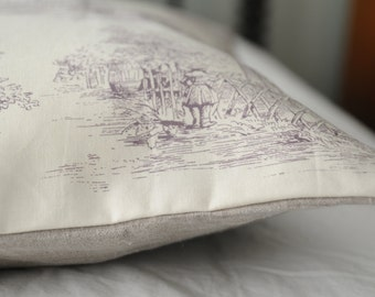 Toile Lavender Pillow