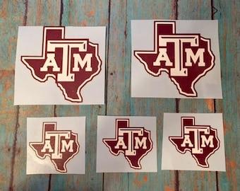 Texas A&M Yeti Decal/Rambler/20 oz. or 30 oz./Tumbler Decal/AGGIES