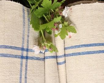 R 142 antique hemp linen roll SKY BLUE grainsack fabric 14.75yards wedding decor lin 19.69wide