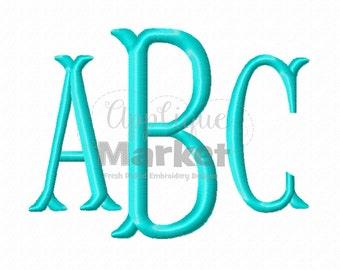 Machine Embroidery Design Applique Fishtail Monogram INSTANT DOWNLOAD