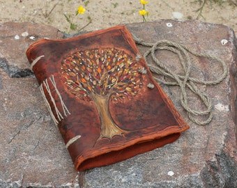 Leather journal Tree of Life wedding guest book anniversary gift bridal shower engagement