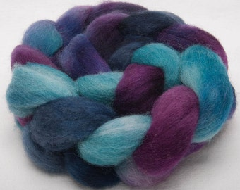Hand dyed English Whitefaced Woodland (Penistone) tops 100g fiber fibre roving