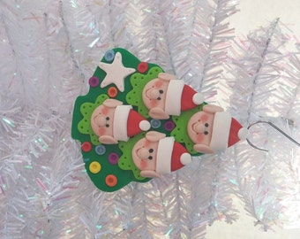 Elf Family of 4 Christmas Tree Ornament - Santa's Elves Ornament - Personalized Family of Four Ornament  - Santa's Elf Tree Ornament - 8127