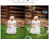 HALF PRICE SALE - Designer Gems Photography Overlays - Soap Bubbles - (1) Layered Photoshop .psd File With (11) Bubble Overlay Layers.