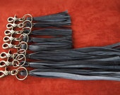 Fringe Keychain made of Recycled Bicycle Inner Tube