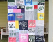 Custom Memory Blanket - T Shirt Memory Quilt  - Crazy Quilt  - Graduation Gift - Father's Day Gift