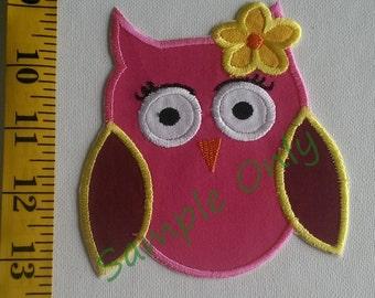 DIY Iron On Appliqué Patch - OWL