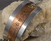 Copper and Steel Life is Good Metal Bracelet
