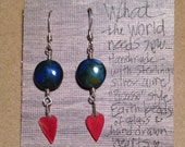 "Earrings ""What the World Needs Now"""