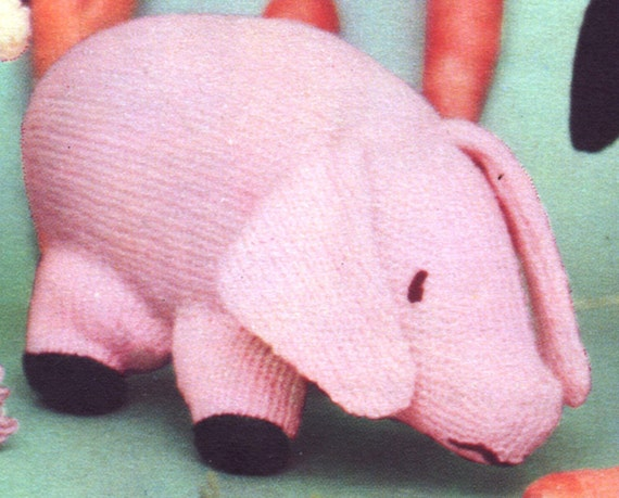 PDF Knitting Pattern / Knitted toy Pig, Squirrel and ...