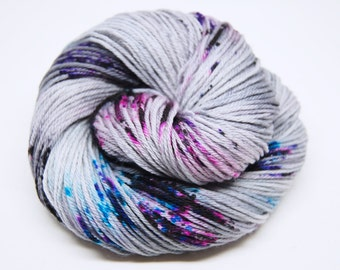 "Indie Rock Worsted Yarn - ""Mix Tape"" - Handpainted Superwash Merino - 218 yards"