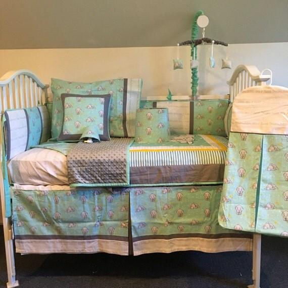 Dumbo Elephant Crib Set by Littleangelslinens