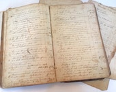 Ledger Pages from 1800s/ Beautiful Writing