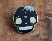 Black Skull Lapel Pin