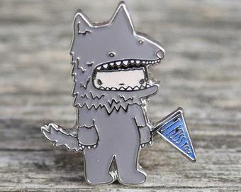 Miss You Wolfe Lapel Pin