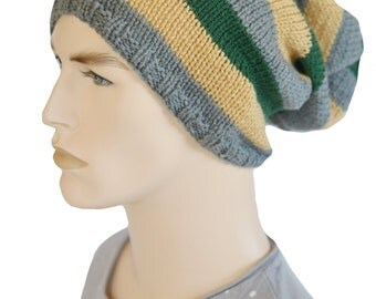 Mens Slouch Hat, Dread Hat, Slouchy Beanie, Tam,