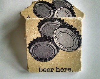 Beer Coasters Father's Day Gift