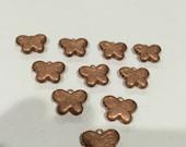 10 pc lot vintage copper engraved butterfly lockets destash
