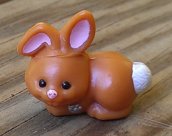 Baby Bunny - mommy and baby bunnies - vintage LPS bunny - pet shop bunny - pet shop rabbit - brown bunny - Kenner bunny - Kenner baby bunny