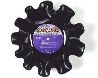 Michael Jackson Vinyl Record Bowl Retro Vintage LP Album Rare 1975 (The Best of Michael Jackson) Purple Motown Label