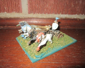 Warhammer Hand Painted Miniature Amazon Knight in Unicorn Chariot Game Toy