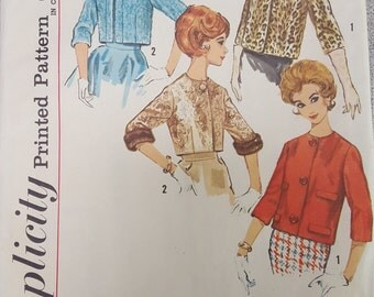 Vintage Mad Men Semi fitted Jacket 20 Simplicity 4655