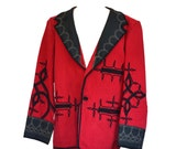 Red Jacket Mens Ethnic Jacket Guatemalan Mexican
