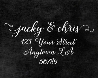 Personalized Self Inking Return Address Stamp - self inking address stamp - Custom Rubber Stamp R333