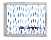 Personalized Lucite Tray - Watercolor Drops