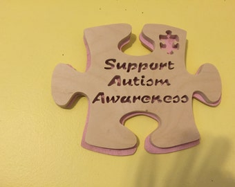Support Autism Awareness wall hanging