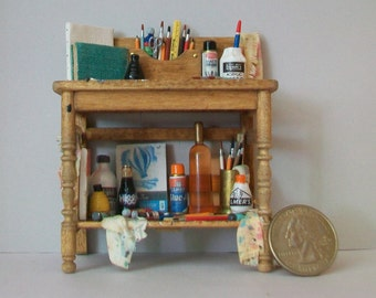 Miniature Artist Bench  1:12 scale