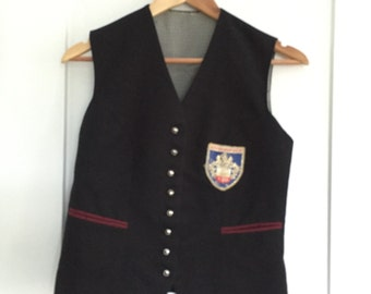 Vintage German Vest with Silver Buttons