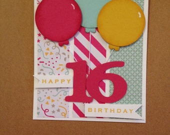 Any age birthday card 3.00 with envelope