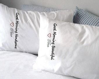Design Works Crafts - Yours & Mine Collection Handsome Beautiful T232171T Pillowcases Stamped for Embroidery