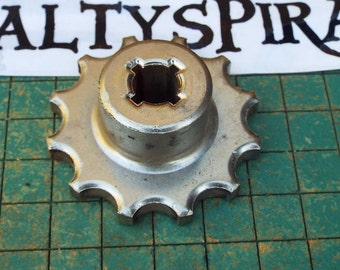 Small Steel Sprocket, industrial paperweight, little gear, great for found art metal sculpture,