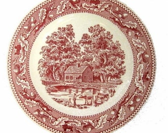 """Vintage MEMORY LANE 10"""" Dinner Plates~Royal China 5 available Excellent"""