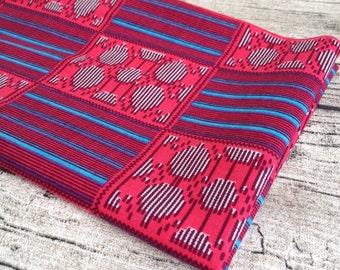 African wax Print Red Fat quarter. fat quarter. wax print fat quarter, quilting, African fat quarter