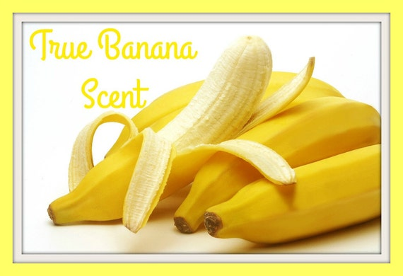 TRUE BANANA Scented Soy Wax Melts - Fruit Soy Tart - Very Strong Scent - Hand Poured - Handmade In USA