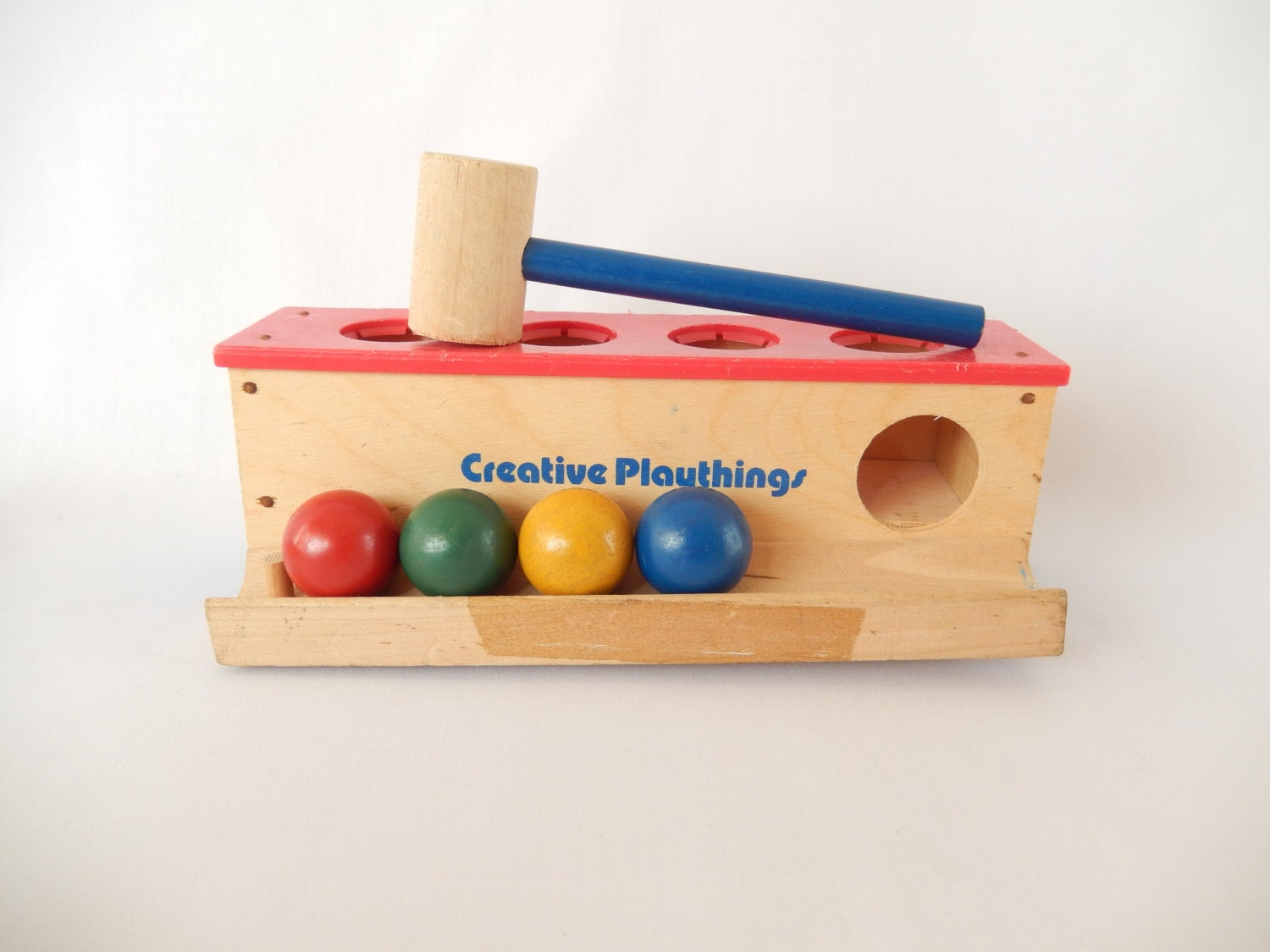 Pound A Ball Toy Toys : Creative playthings pound a ball toy vintage hammer