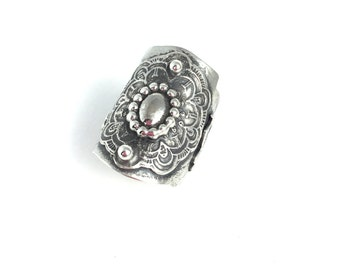 Blessings - Sterling Silver Bohemian Style Ring - Size 9