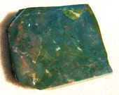 Bloodstone Jasper Slab - Gorgeous Green & Red with Pocket of Druzy by JewelryArtistry - SL75