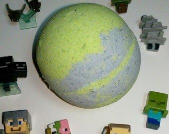 Minecraft Kids Bath Bomb--with SuRpRiSe Authentic Minecraft Figure Hidden Inside!!