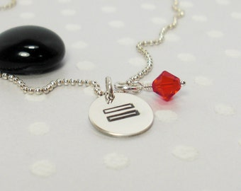 Marriage Equality LGBT - Gay Pride - Love Wins - Personalized Necklace - Hand Stamped Necklace - Sterling Silver Charm Necklace