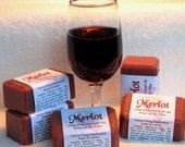 MERLOT Bath Soap, Holiday soap, cold process, made with wine, fruity scented