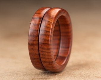 Size 6 - Stacking Mopani Wood Rings No. 128