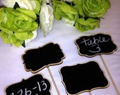 On SALE- 12 Chalkboard Sign Stakes, Chalkboard Table Numbers, Chalkboard Signs with Stick, Wedding Chalkboards, Chalkboard Food Labels