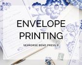 Envelope Printing for Return Address