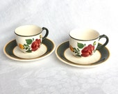 2 Cups Saucers Villeroy and Boch Bauernblume