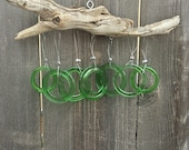 Light Green Wine Bottle Driftwood Chime